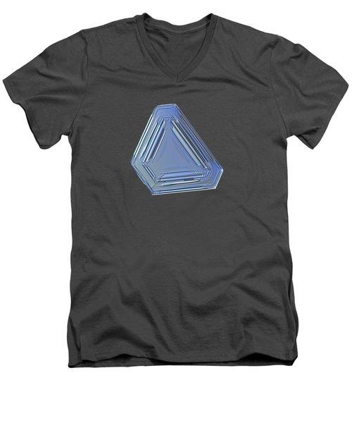 Snowflake Photo - Four Directions Alt Men's V-Neck T-Shirt