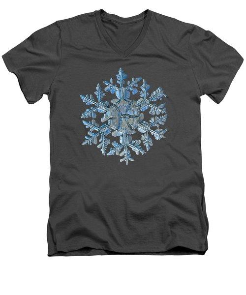 Snowflake Photo - Gardener's Dream Men's V-Neck T-Shirt