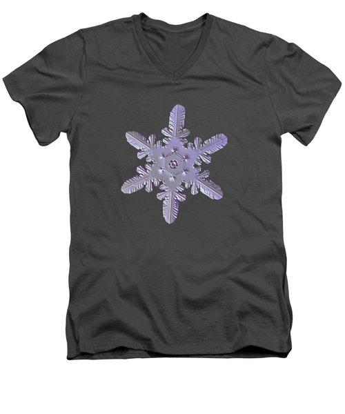 Snowflake Photo - Heart-powered Star Men's V-Neck T-Shirt