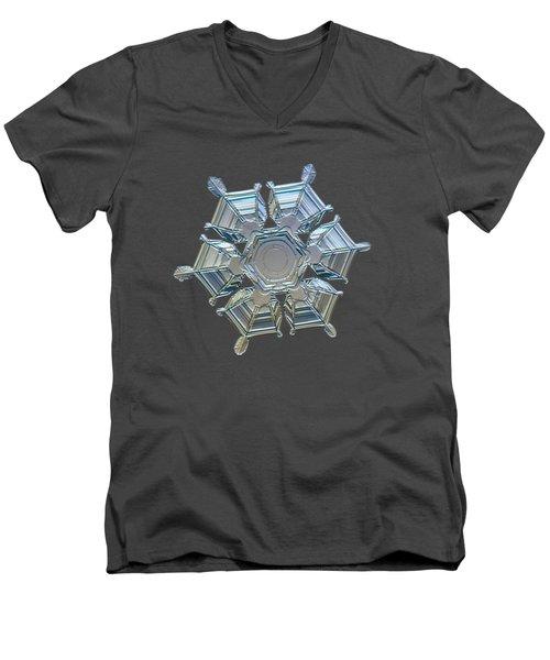 Snowflake Photo - Ice Relief Men's V-Neck T-Shirt