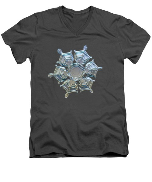 Snowflake Photo - Ice Relief Men's V-Neck T-Shirt