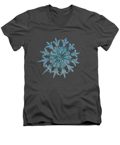 Snowflake Photo - Twelve Months Men's V-Neck T-Shirt by Alexey Kljatov
