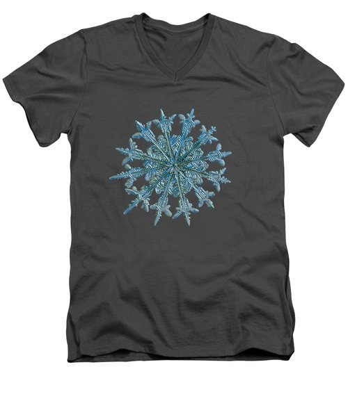 Snowflake Photo - Twelve Months Men's V-Neck T-Shirt