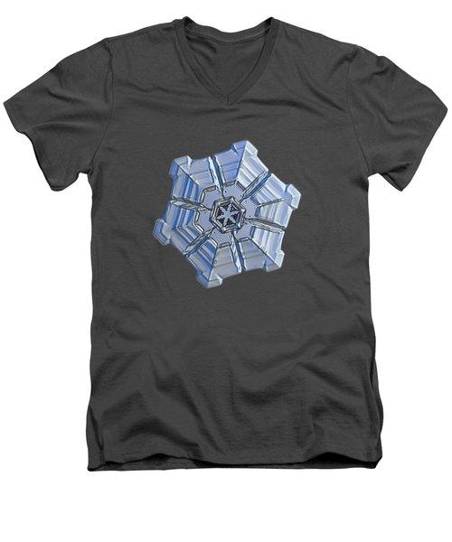 Snowflake Photo - Winter Fortress Men's V-Neck T-Shirt