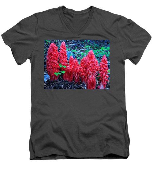 Snowflower Pow Wow Men's V-Neck T-Shirt by Sean Sarsfield