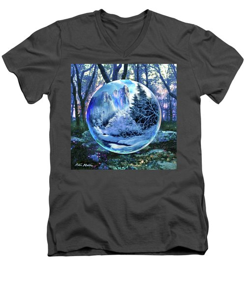 Snowglobular Men's V-Neck T-Shirt