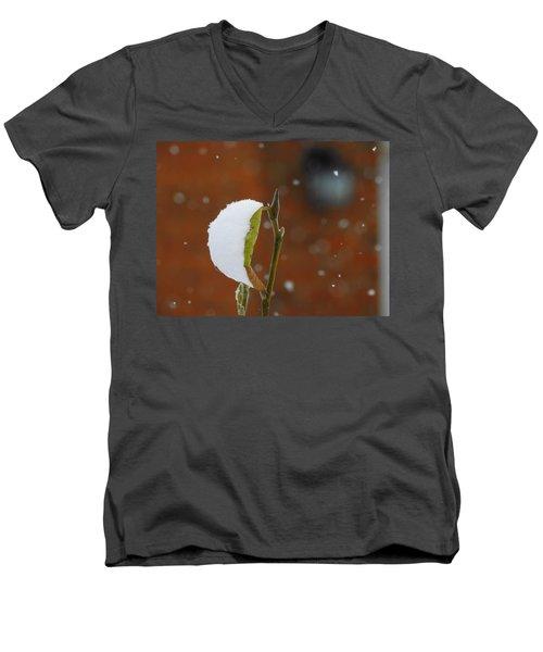 Snowing Men's V-Neck T-Shirt by Betty-Anne McDonald