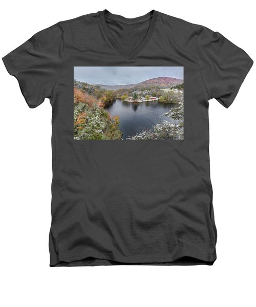 Men's V-Neck T-Shirt featuring the photograph Snowliage by Bill Wakeley