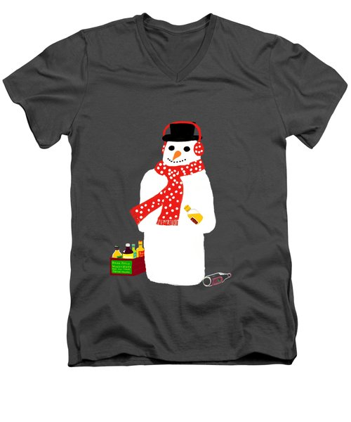 Snowman Men's V-Neck T-Shirt