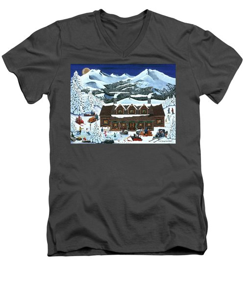 Snowmobile Holiday Men's V-Neck T-Shirt