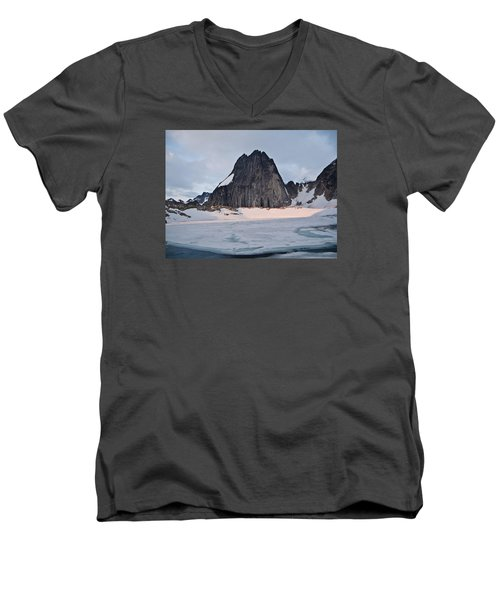 Snowpatch Spire Men's V-Neck T-Shirt