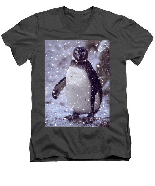 Snowpenguin Men's V-Neck T-Shirt