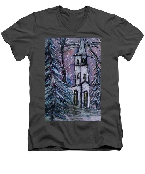 Snowscape Men's V-Neck T-Shirt