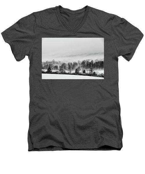 Snowscape Men's V-Neck T-Shirt by Nicki McManus