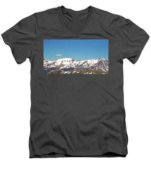 Snowtop Mountains Men's V-Neck T-Shirt