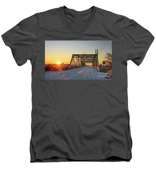 Snowy Bridge Men's V-Neck T-Shirt