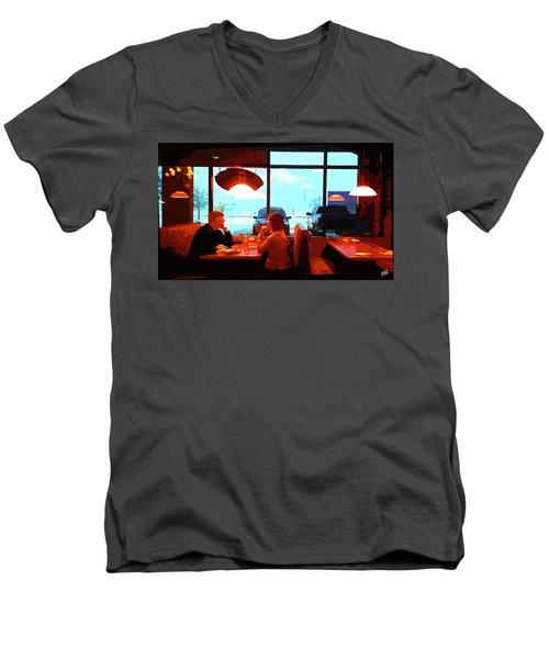 Snowy Date Men's V-Neck T-Shirt