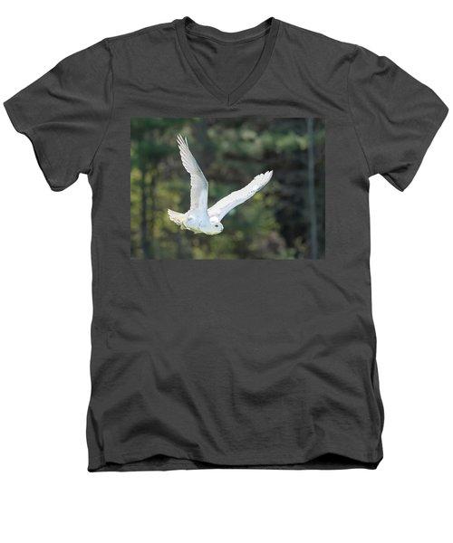 Snowy Glide Men's V-Neck T-Shirt