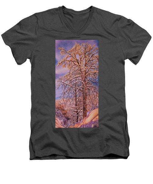 Snowy Men's V-Neck T-Shirt