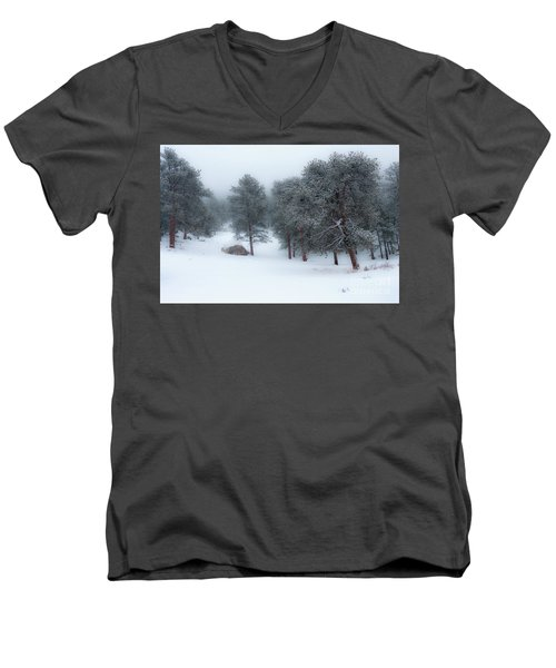 Snowy Morning - 0622 Men's V-Neck T-Shirt