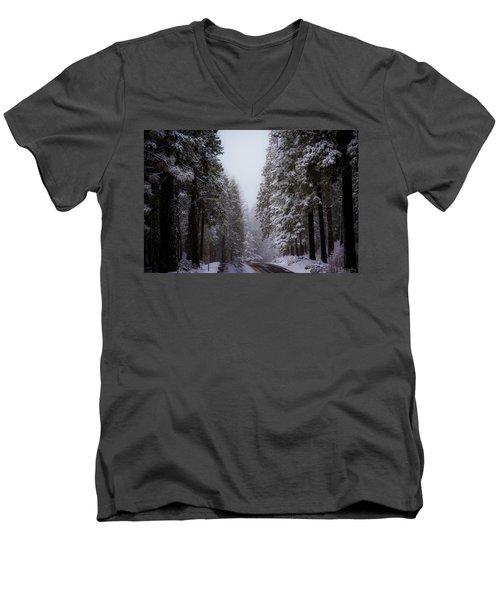 Snowy Path Men's V-Neck T-Shirt