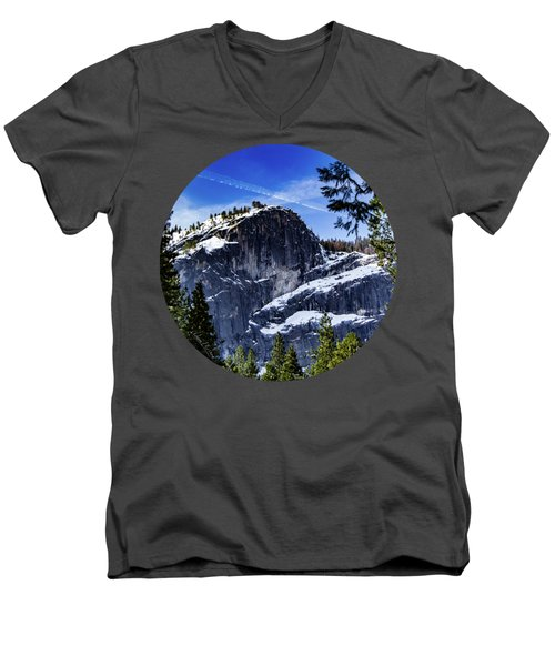 Snowy Sentinel Men's V-Neck T-Shirt