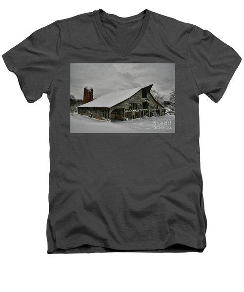 Snowy Thunder Men's V-Neck T-Shirt