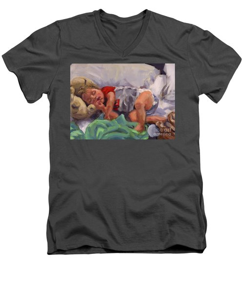 Snug As A Bug Men's V-Neck T-Shirt