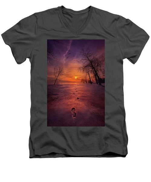 Men's V-Neck T-Shirt featuring the photograph So Close No Matter How Far by Phil Koch