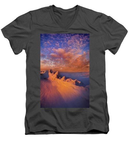 Men's V-Neck T-Shirt featuring the photograph So It Begins by Phil Koch