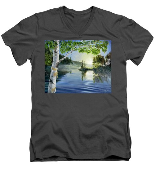 Ripples Men's V-Neck T-Shirt
