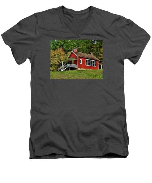 Soap Creek Schoolhouse Men's V-Neck T-Shirt by VLee Watson