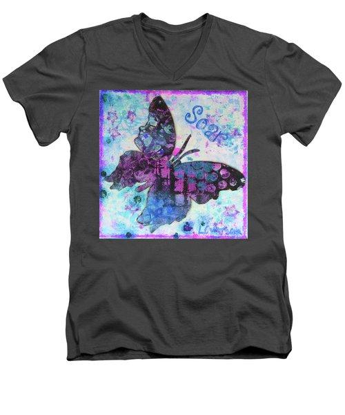 Soar Butterfly Men's V-Neck T-Shirt
