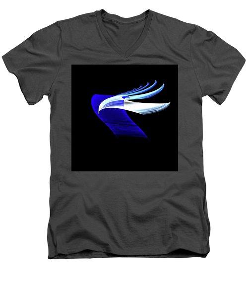 Men's V-Neck T-Shirt featuring the digital art Soaring by Lea Wiggins