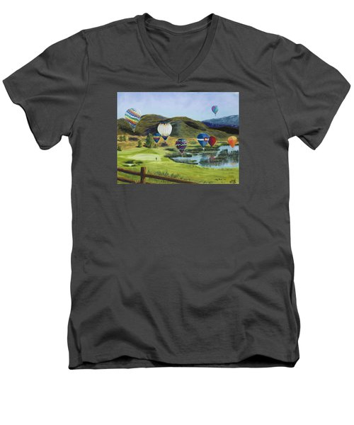 Soaring Over Colorado Men's V-Neck T-Shirt