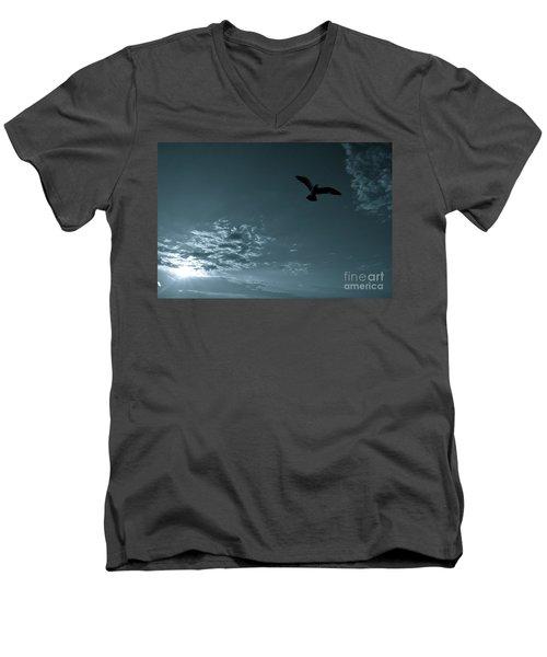 Soaring Men's V-Neck T-Shirt by Valerie Rosen