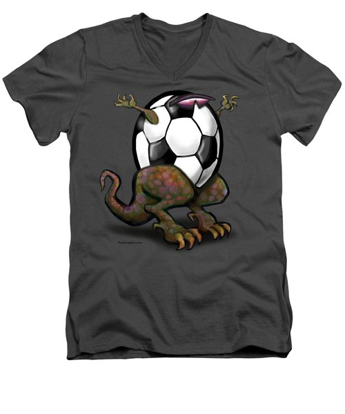 Soccer Zilla Men's V-Neck T-Shirt