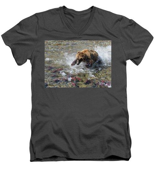 Sockeye In Sight  Men's V-Neck T-Shirt