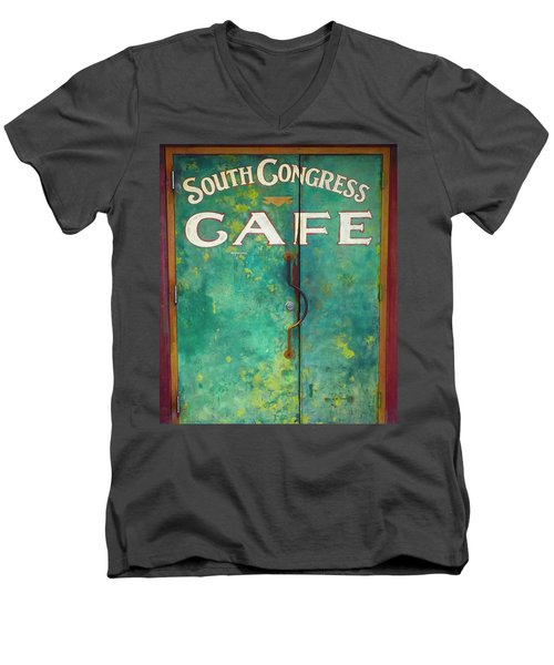 Soco Cafe Doors Men's V-Neck T-Shirt