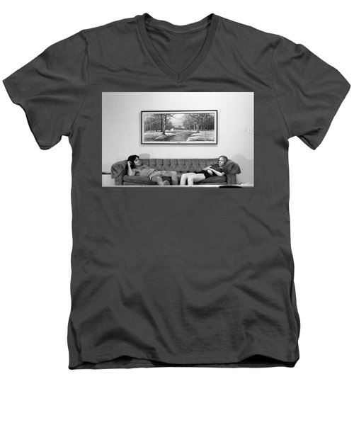 Sofa-sized Picture, With Light Switch, 1973 Men's V-Neck T-Shirt