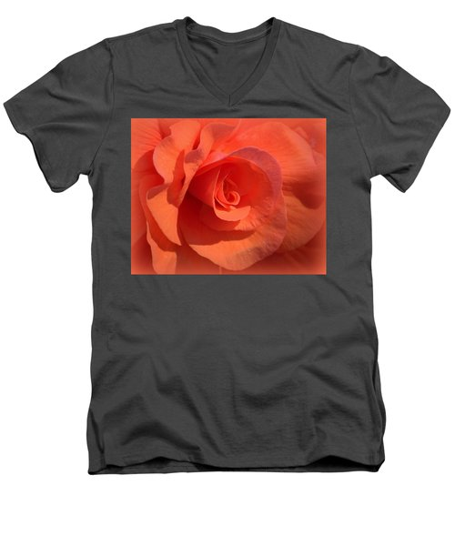 Soft Begonia Men's V-Neck T-Shirt