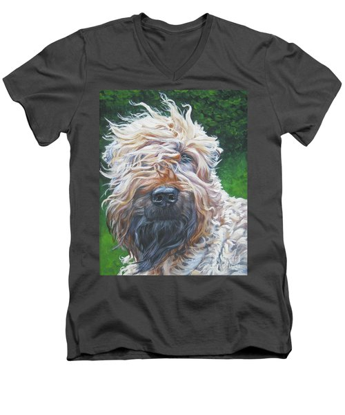 Soft Coated Wheaten Terrier Men's V-Neck T-Shirt