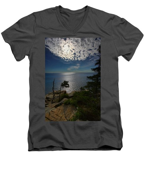 Soft Light On Otter Point Men's V-Neck T-Shirt