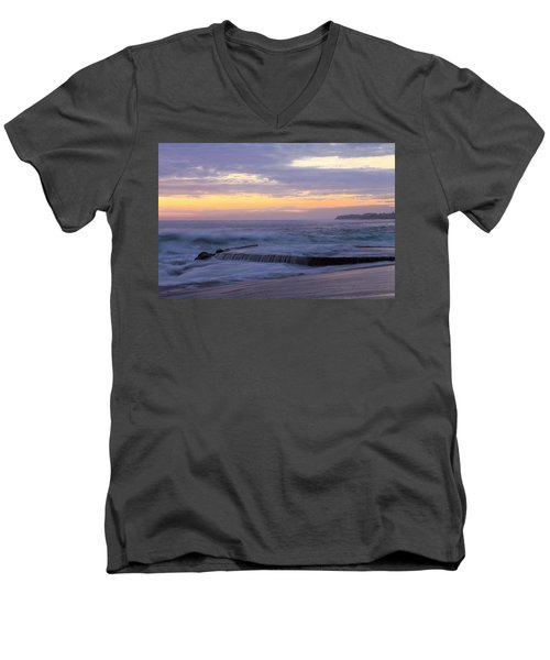 Men's V-Neck T-Shirt featuring the photograph Soft Light On Victoria Beach by Viktor Savchenko