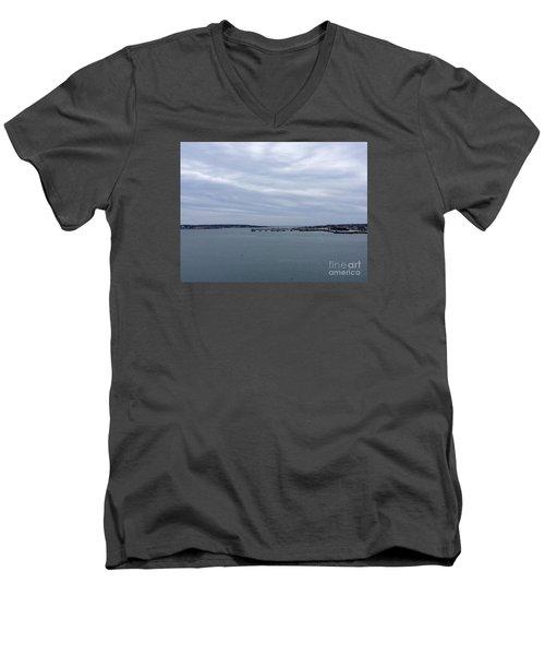 Soft Start, Winter Sunrise Men's V-Neck T-Shirt by Patricia E Sundik