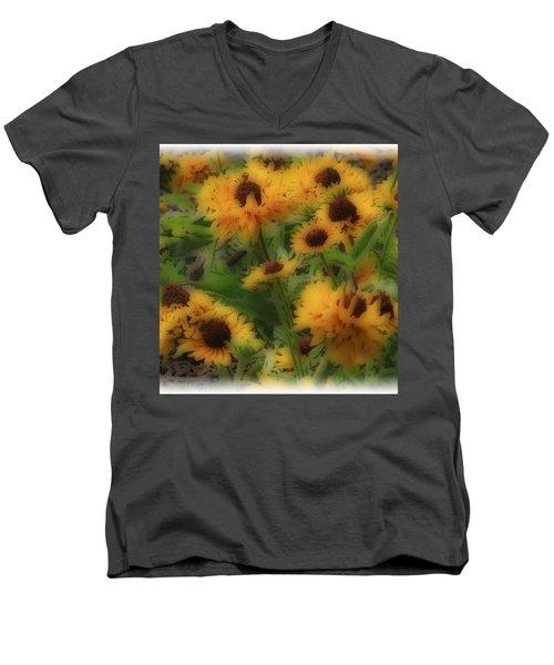 Soft Touch Black Eyed Suzy's  Men's V-Neck T-Shirt