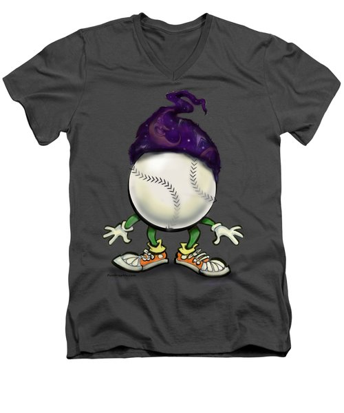 Softball Wizard Men's V-Neck T-Shirt