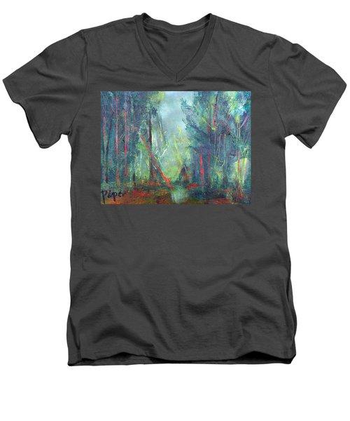 Softlit Forest Men's V-Neck T-Shirt