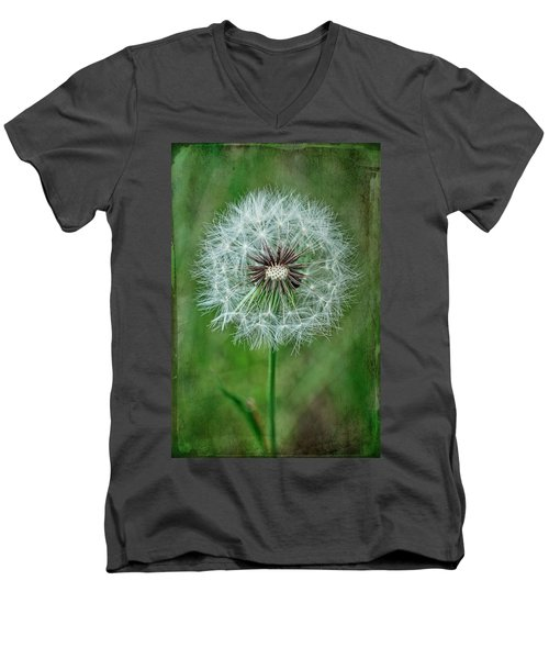 Men's V-Neck T-Shirt featuring the photograph Softly Sitting by Jan Amiss Photography