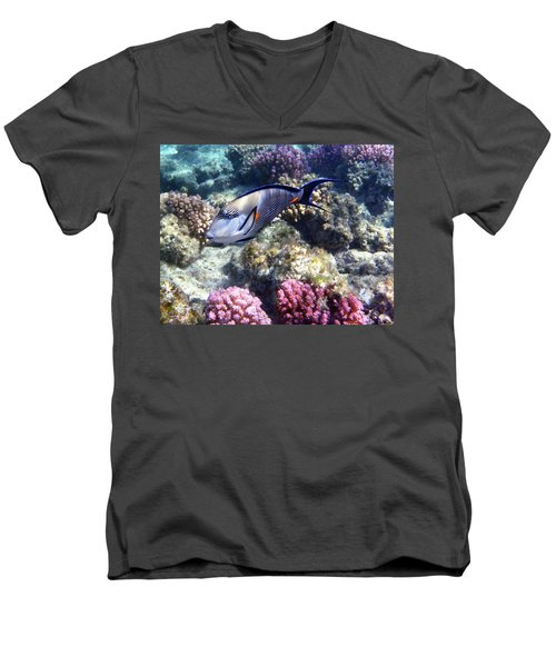 Sohal Surgeonfish 5 Men's V-Neck T-Shirt